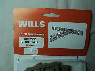Wills HO/OO SS36 Dressed Stone Wall Plastic Model