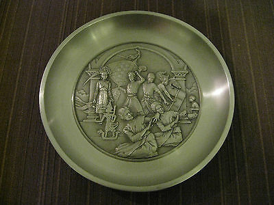 Tumasek Pewter Plate, Cultural Images Of Malaysia, Collectible & Decorative