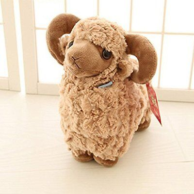 Luckstar Lamb Plush Doll 10 Brown Cute Soft Sheep Stuffed Animal