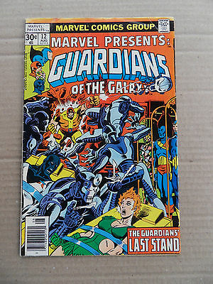 Marvel Presents 12 . Guardians of the Galaxy - Marvel 1977 - VG / FN