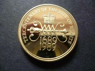 1989 Proof £2 Coin 300 Years Of The Bill Of Rights.housed In A New Capsule.