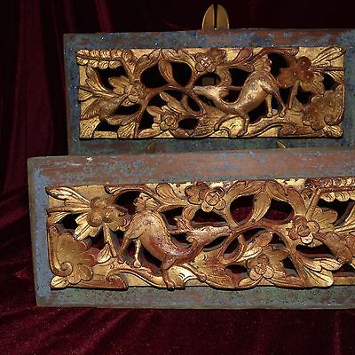 Pair of late19th/early 20th Century Peranakan Wedding Bed Panels