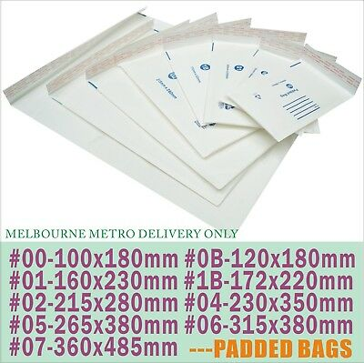 Bubble Padded White Mailer Envelope Bag 100x180 120x180 160x230 172x220 215x280