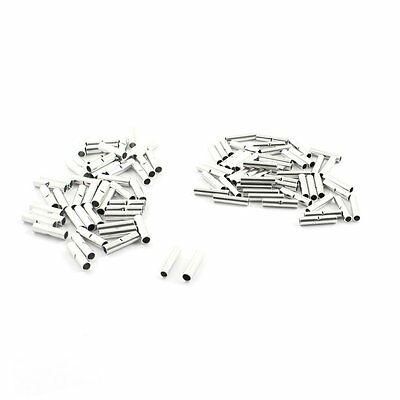 100Pcs BN1 + BN2 Pipe Type Non-insulated Tin Plated Butt Connectors