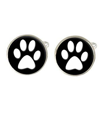 Dog Paw Print Mens Cufflinks Ideal Birthday Gift C645