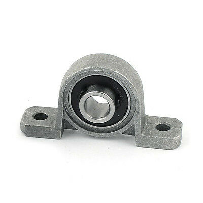 2PCS 8mm Bore Inner Ball Mounted Pillow Block Insert Bearing KP08 Gray