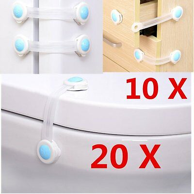 Adhesive Child Kids Baby Cute Safety Lock For Door Cabinet Drawers Cupboard TU