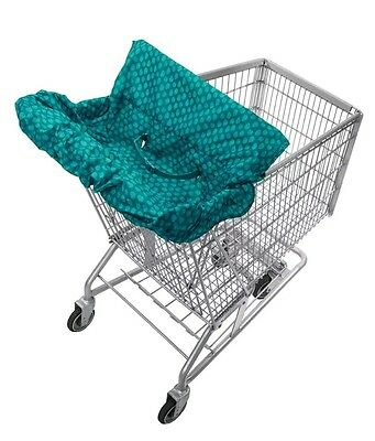 Infantino Fold Away Shopping Cart Cover Teal Free Shipping