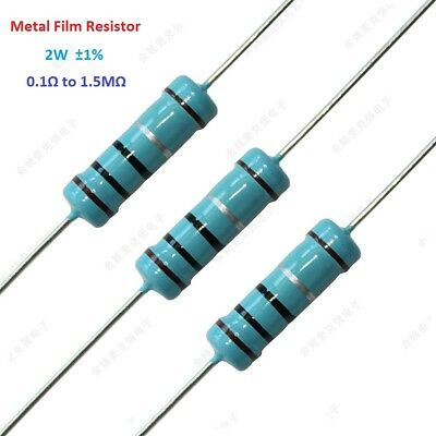 20pcs 2W Metal Film Resistor Tolerance ±1% Full Range of Values(0.1Ω to 1.5MΩ)