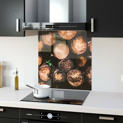 Kitchen Splashback Toughened Glass Heat Resistant Wood Nature p235309 60x65cm