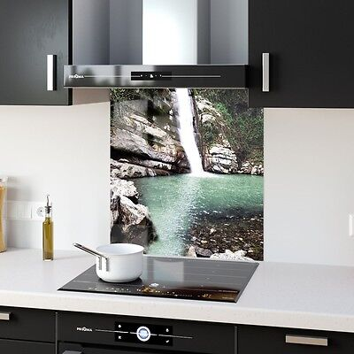 Kitchen Splashback Toughened Glass Heat Resistant Nature Fall  p225108 60x65cm