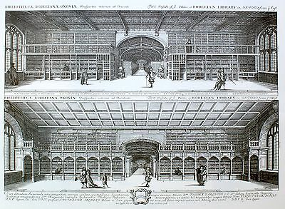 Bodleian Library Oxford, David Loggan Print Oxford University