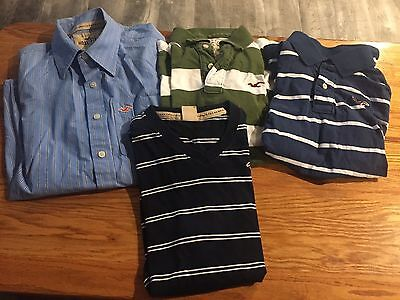 Hollister Shirts Mens Medium in EUC Lot Of 4, 2 polos, button down, v neck