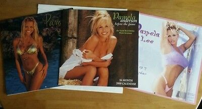 Pamela Anderson X3 Calendars 1996, 1997 & 2000 All unused Immaculate (see disc)