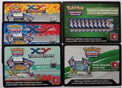 10 x Pokemon TCG Online Booster Codes - XY Sets (Select your set)