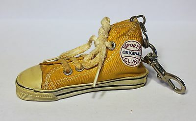 Nos Htf Yellow Coca-Cola Original Sports Club Canvas Hightop Sneaker Keychain