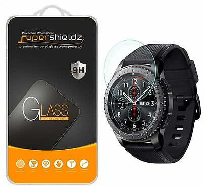 Gear S3 Full Coverage Tempered Glass Bubble Free Anti-Scratch Screen Protector