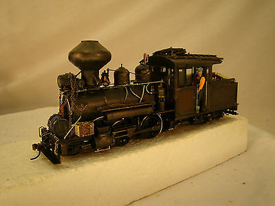 On30 Forney Logging Locomotive - custom weathered - hand crafted - lot 16 - DCC