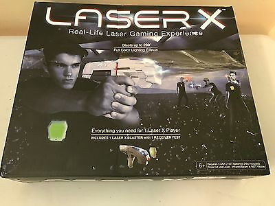 LASER X One Player Real-Life Laser Gaming Experience 1 Blaster 1 Vest +Batteries