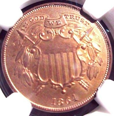 1864 Two Cent Small Motto - Gorgeous Coin! - UNC Details!