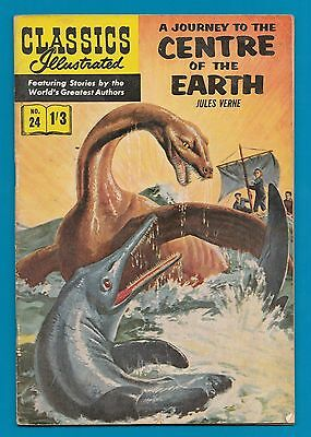 Classics Illustrated Comic Book  # 24  A Journey to the Centre of the Earth #735
