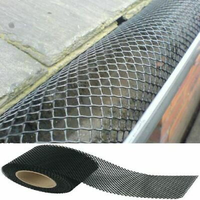 4X 5m 20m 5m Gutter Leaf Guard Protection System Mesh Roof Guttering Cover to Stop Leaf Moss /& Debris Cloggs Blocks