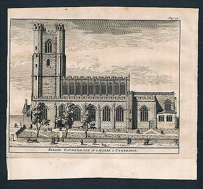 1700 Church of St Mary the Great Cambridge England United Kingdom engraving view