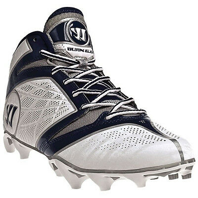 9d6a8c37cf5a WARRIOR BURN 6.0 Speed Mid Lacrosse Cleats - White/Blue - $15.00 ...