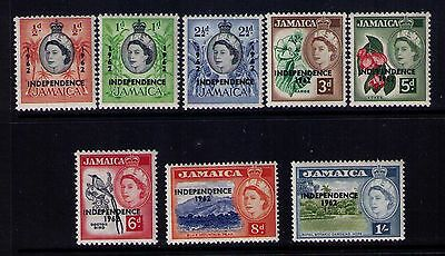 Jamaica Stamps 1962 Independence Ovpt Sc# 185-92 Short Set Mnh