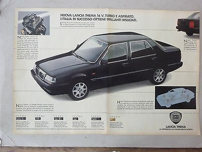 *ADVERTISING PUBBLICITA' LANCIA THEMA 16 V. turbo  - 1988 ALTRE DISPONIBILI