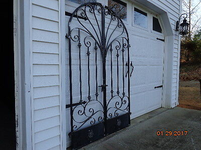 Victorian Iron Scroll Garden/wine Cellar Gate