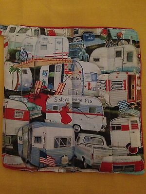 Hot Pot Pad/Pot Holder Vintage/Retro Print Retro Kitchen Vintage Caravan