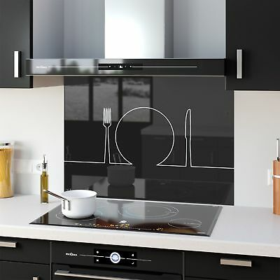 Kitchen Splashback Toughened Glass Heat Resistant Food Simple 38635916 90x65cm