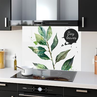 High Quality Glass Kitchen Splashback Food Herb New 38737049 90x65cm