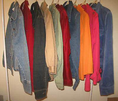 Womens 10 PC Lot Mixed Sizes XS S M L XL ~JACKETS ~wholesale resale resell wear