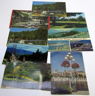 Vintage collectible POSTCARD lot of 8 BC CANADA vancouver VICTORIA fraser canyon