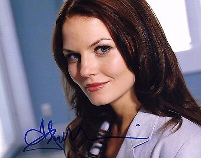 Autographs-original Hit Tv Show Jennifer Morrison W/ Coa 8x10 Autograph Photo House M.d