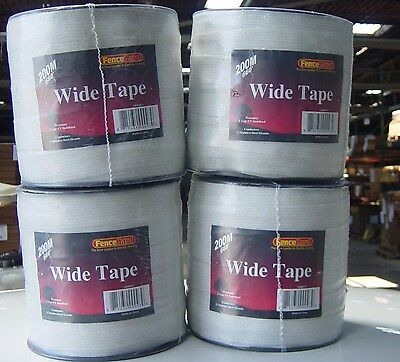 """4 rolls 1 1/2"""" wide Horse polytape 656' electric fence  White"""