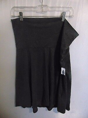 Old Navy Charcoal maternity skirt size M NWT