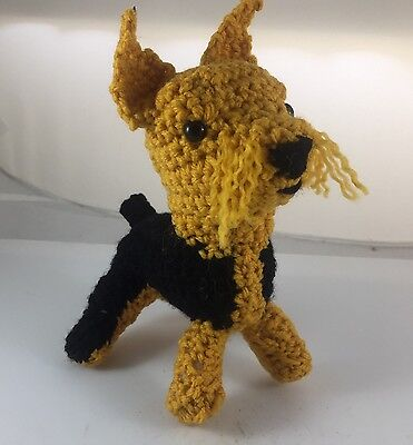 Stuffed Toy Animal Dog Schnauzer - Crocheted With Love For Ages 2+