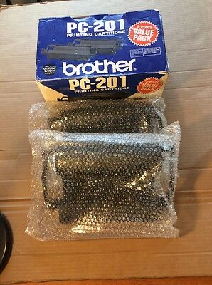 BROTHER  PC-201 2 Pack Printing Cartidges New In Bubble Wrap