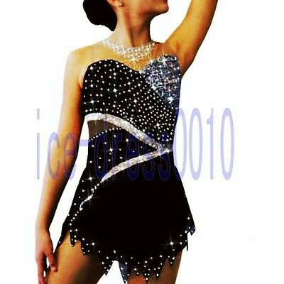 Figure Skating competition Dress Ice Skating Training Dress Adult Costume  8892