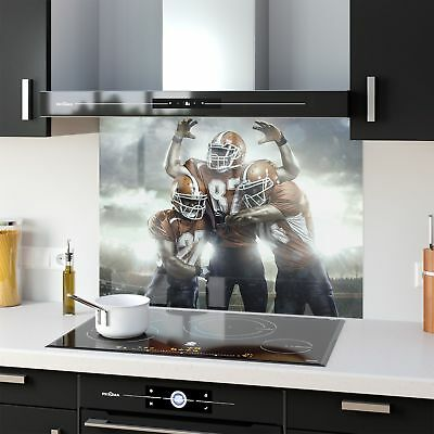 Kitchen Splashback Toughened Glass Heat Resistant NFL Players 33885779 90x65cm