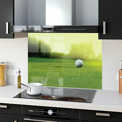 Kitchen Splashback Toughened Glass Heat Resistant Sport Golf 34739666 90x65cm