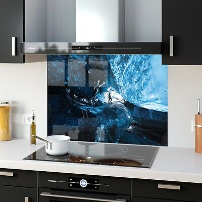 Kitchen Splashback Toughened Glass Heat Resistant Speleology 30462742 90x65cm