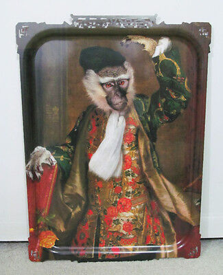 "iBride France Monkey Dressed in Royal Clothing 25"" Tray Wall Hanging Art Decor"
