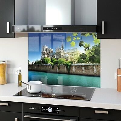 Kitchen Splashback Toughened Glass Heat Resistant Notre Dame 17481692 90x65cm