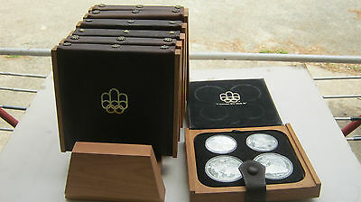 rare 1976 CANADA MONTREAL OLYMPICS STERLING SILVER COIN SET- 28 COINS in Display