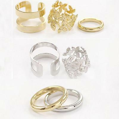 Gold Midi Finger Set Gift Joint Women Leaves Knuckle Rings Jewelry