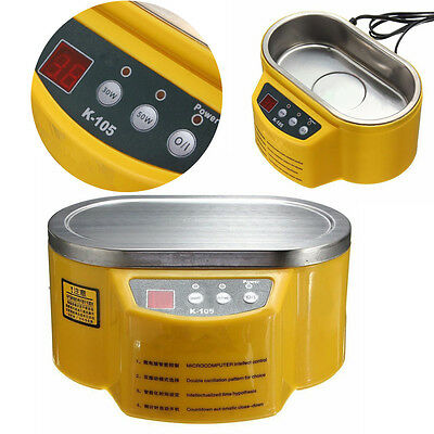 30/50W K105 Stainless Steel Ultrasonic Cleaner For Jewelry Glasses Watch CD